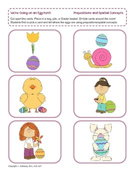 Let's Go on an Egg Hunt ~ Prepositions and Conceptual Terms