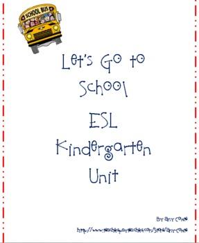 Let's Go to School Kindergarten Unit