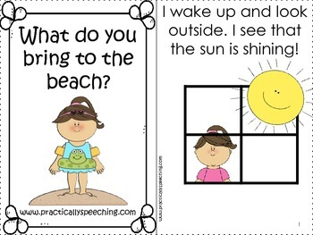 Let's Go to the Beach - An Basic Concepts Book With Manipulatives