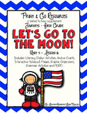 Let's Go to the Moon!  - Journeys First Grade Print and Go