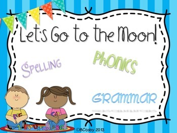 Let's Go to the Moon {spelling, writing, and phonics practice}