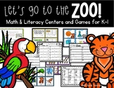 Let's Go to the Zoo!--Math & Literacy Centers and Games for K-1