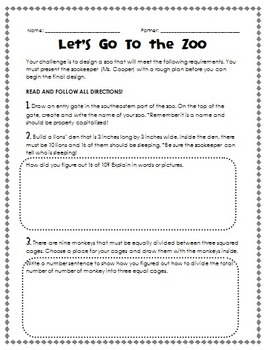 Let's Go to the Zoo Performance Assessment Project