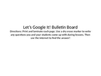 Let's Google It! Bulletin Board