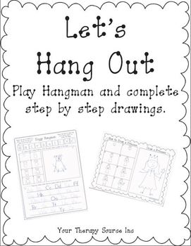 Let's Hang Out - Hangman with Step By Step Drawing