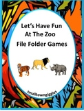 Zoo Animals File Folders Game Fine Motor Special Education and Autism Resources