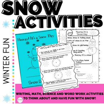 Winter Activities STEM Snow and ELA