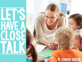 Let's Have a Close Talk {Free Close Reading Resources}