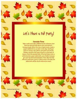 Let's Have a Fall Party!