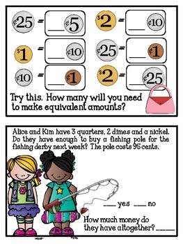 Instant Math Let's Have a Garage Sale: Money Exploration Booklet