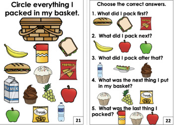 Interactive Book: Let's Have a Picnic