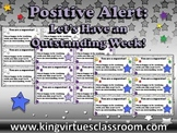 Let's Have an Outstanding Week Slips - Positive Note for Students - King Virtue