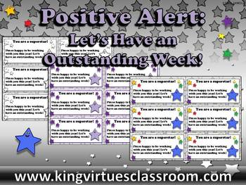 Let's Have an Outstanding Week Slips - Positive Note for S