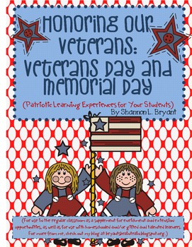 Veterans Day and Memorial Day Enrichment Unit
