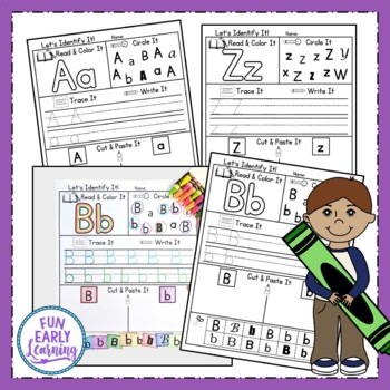 Let's Identify It! Letter Recognition - No Prep Interactive Worksheets