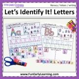 Let's Identify It! Letter Recognition - No Prep Worksheets
