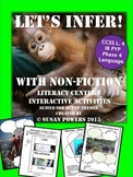Lets Infer with Non Fiction Interactive Literacy Activities