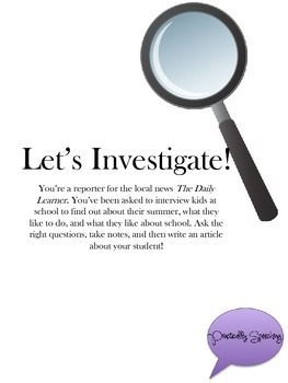 Let's Investigate! A question-asking activity