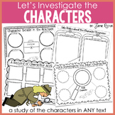 Characters Unit for ELA Common Core