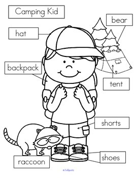 CAMPING KID Labels FREE