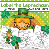 St. Patrick's Day Label the Leprechaun FREE