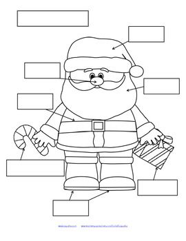 Let's Label Santa Claus - 3 Differentiated Ways FREE