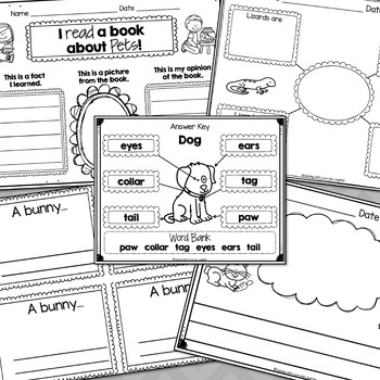 Let's Label, Write, and Draw About...Pets