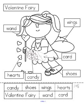 VALENTINE'S DAY Fairy Labeling FREE