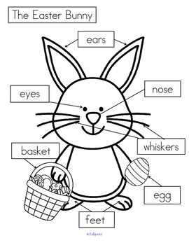 EASTER BUNNY Cut and Paste Labeling Differentiated FREE