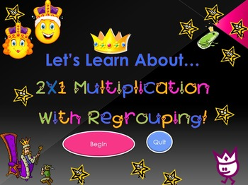 Let's Learn About 2X1 Multiplication With Regrouping! (Powerpoint)
