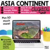 Distance Learning Asia Continent Study through PowerPoint/