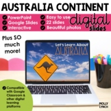 Distance Learning Australia Continent Study through PowerP