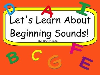Let's Learn About Beginning Sounds Smart Board Lesson