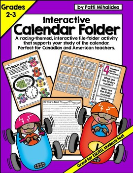 Let's Learn About Calendars! An Interactive File Folder Activity: 2nd-3rd Grade
