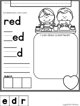 Let's Learn About Colors! No Prep Printables