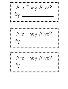 Let's Learn About Living and Nonliving Things
