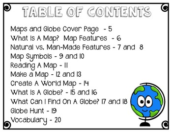 Let's Learn About Maps and Globes-An Interactive Notebook Mini Unit