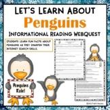 Penguins Webquest Internet Scavenger Hunt Reading Research Activity