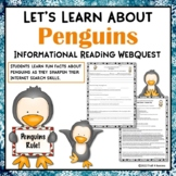 Penguins Webquest Internet Scavenger Hunt Reading Research Activity