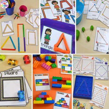 2D Shapes Unit for Preschool, Pre-K, and Kindergarten