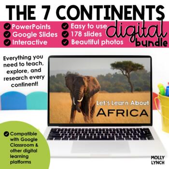 Distance Learning Continents - A PowerPoint/Google Trip to the 7 Continents
