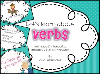 Let's Learn About Verbs! Interactive PPT CC Aligned - includes 2 printables!
