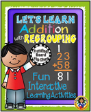 Addition with Regrouping and Printables  {Promethean Board Flip Chart}