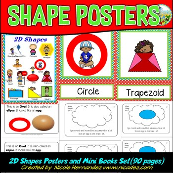 2D Shapes - Posters and Mini Book Set {Let's Learn All About 2D Shapes}