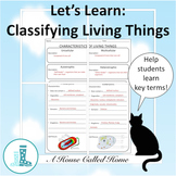 Let's Learn:  Classifying Living Things Organizer