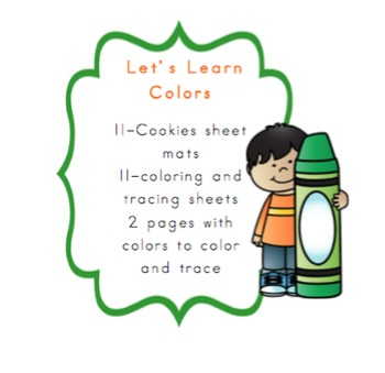 Let's Learn Colors with Cookie Sheet Mats