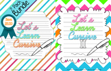 Let's Learn Cursive I & Let's Learn Cursive II {Bundle}