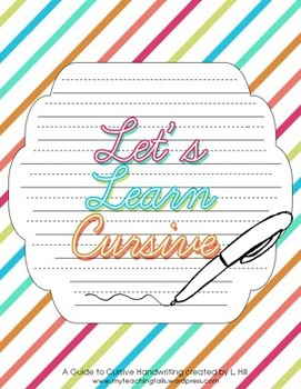 let 39 s learn cursive i teaching cursive handwriting workbook tpt. Black Bedroom Furniture Sets. Home Design Ideas