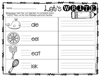 Digraph Activities- Wh
