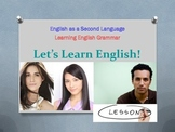 Let's Learn English! ESL Grammar Lesson - Answer Keys Included